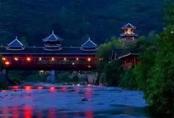 南川金佛山西坡景区的古韵廊桥山庄:充满苗家风情的重庆民宿,影视